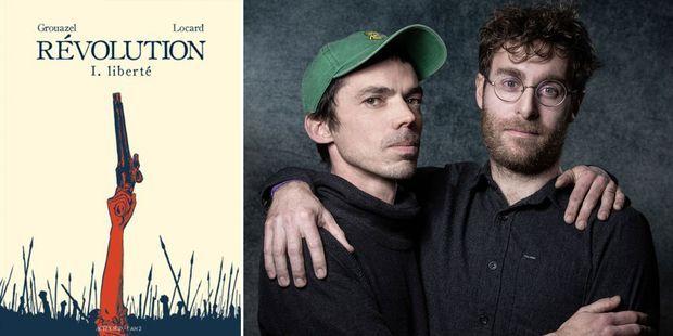 """Younn Locard et Florent Grouazel remportent le fauve d'or au festival d'Angoulême pour """"Révolution""""."""