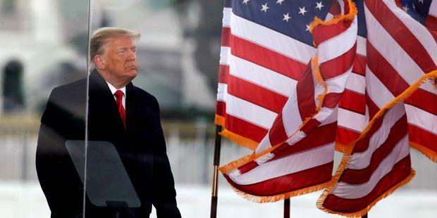 Donald Trump en meeting le 6 janvier à Washington, quelques heures avant l'assaut du Capitole par ses partisans.