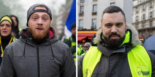 Maxime Nicolle et Eric Drouet sont les deux figures les plus en vues du mouvement.
