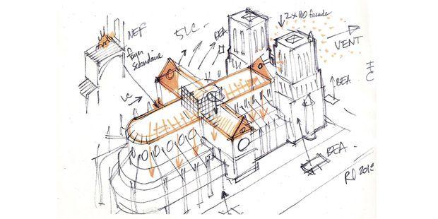 Notre-Dame de Paris : le dessin qui a aidé les pompiers le soir de l'incendie