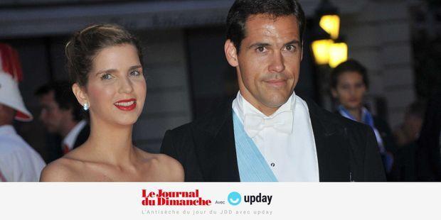 Louis de Bourbon, duc d'Anjou, et sa femme Carmen, en 2011 au mariage du prince Albert II de Monaco.
