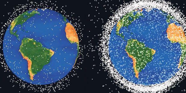 Ciel, l'espace est une poubelle