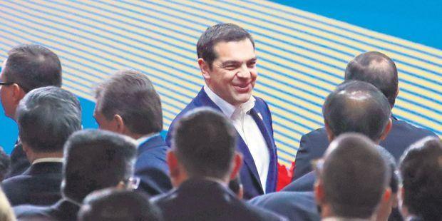 Alexis Tsipras en avril dernier au forum des nouvelles routes de la soie, à Pékin, en Chine.