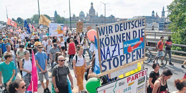 Gauche contre extrême droite dans l'ancienne Allemagne de l'Est