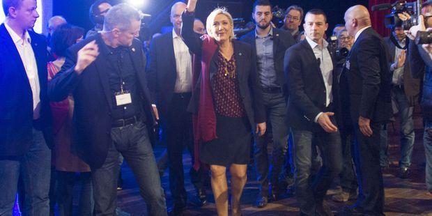 Marine le Pen conclut à Lyon un week-end très politique 3460ff5773bc