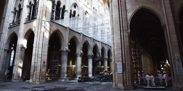 A l'intérieur de Notre-Dame, 3 mois après l'incendie