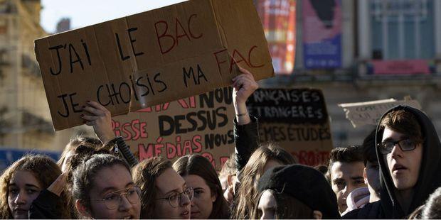 En marge du mouvement des Gilets jaunes, les lycéens avaient également manifesté contre Parcoursup.