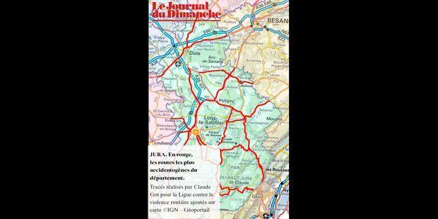 Jura 39 La Carte Des Routes à La Mortalité La Plus élevée