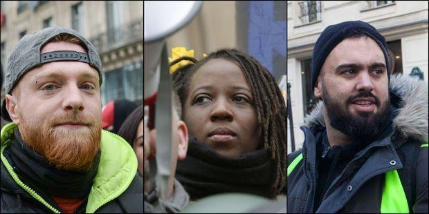 Maxime Nicolle, Priscillia Ludosky et Eric Drouet sont les leaders historiques des Gilets jaunes